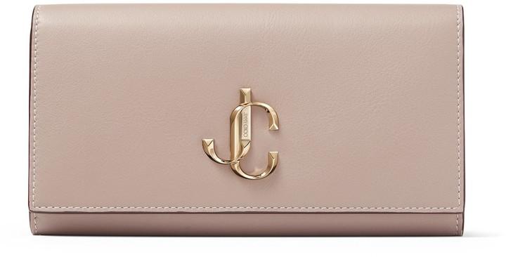 Jimmy Choo MARTINA Mauve Calf Leather Zip Around Wallet