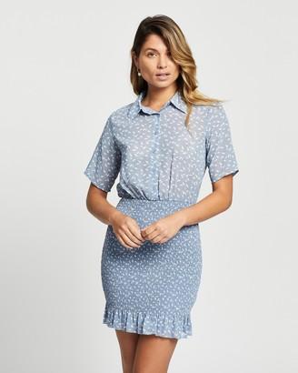 Atmos & Here Atmos&Here - Women's Blue Mini Dresses - Isla Mini Dress - Size 8 at The Iconic