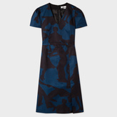 Paul Smith Women's Dark Blue And Black 'Dancers' Dress