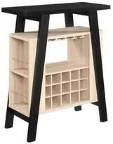 Johar Furniture Newport Bar Console Black & Weathered White - Convenience Concepts