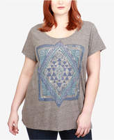 Lucky Brand Trendy Plus Size Mandala Graphic T-Shirt