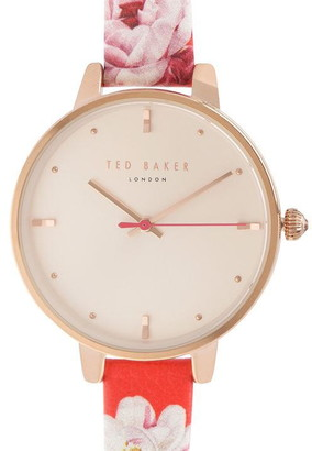 Ted Baker Rose Gold Strap Watch