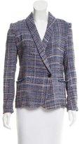 Etoile Isabel Marant Plaid Patterned Tweed Blazer