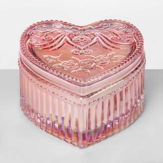 Glass Heart Opalhouse 3.5oz Etched Jar Candle Blushing Love - OpalhouseTM