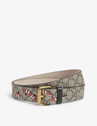 Gucci Snake GG Supreme canvas belt