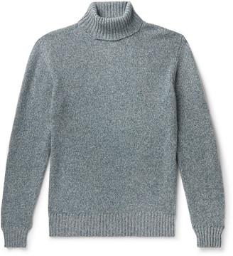 Loro Piana Melange Baby Cashmere Rollneck Sweater