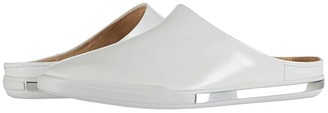 Ecco Simpil II Slide (White Calf Leather) Women's Shoes