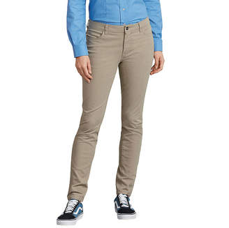 Dickies Womens Mid Rise Slim Pant