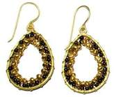 Ananda Brass Beaded Earrings