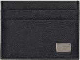 Dolce & Gabbana Navy Leather Card Holder