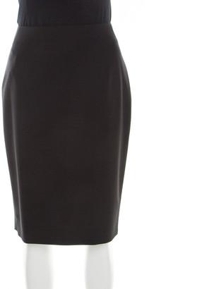 Boss by Hugo Boss Black Stretch Wool Pencil Skirt M