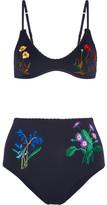 Stella McCartney Embroidered Bikini - Storm blue