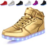 ANLUKE 11 Colors LED Sneakers Light Up Flashing Shoes as gift for Boys Girls Men and Women 35