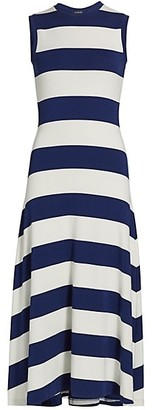 Polo Ralph Lauren Striped Knit Sleeveless Cotton Dress