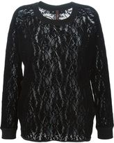 High 'Assume' lace top