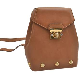 Salvatore Ferragamo Brown Leather Backpacks