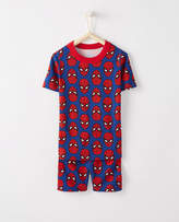 Hanna Andersson Marvel®; Spider-Man Short John Pajamas In Organic Cotton