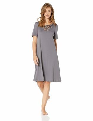 Hanro Women's Ella Short Sleeve Gown