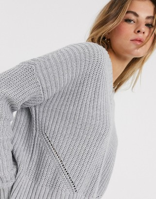 Hollister v neck knitted sweater