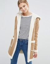 Vila Faux Shearling Coat