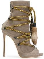 DSQUARED2 Women's Grey/brown Leather Ankle Boots.