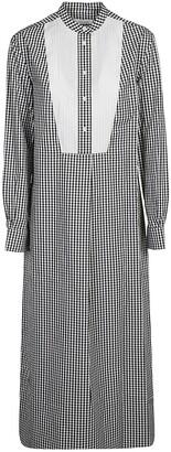 Calvin Klein Contrast Panel Detail Maxi Shirt Dress