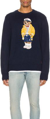Polo Ralph Lauren Cotton Long Sleeve Tee in Navy Sailor | FWRD
