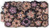 Coach Dinky Leather Bag W/ Floral Appliqués