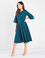 Closet Bell Sleeve Full Panelled Skirt Dress
