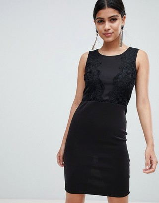 AX Paris pencil dress with lace detail