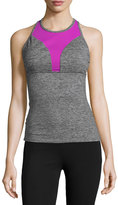 Koral Activewear Colorblock Performance Tank Top, Heather Gray/Orchid