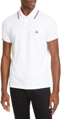 Moncler Tipped Solid Short Sleeve Pique Polo