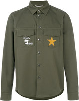 Valentino patch shirt jacket