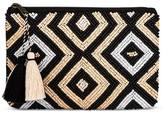 Merona Women's Clutch Handbag Natural/Black/White