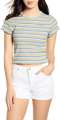 Dickies Stripe Ribbed Crop T-Shirt
