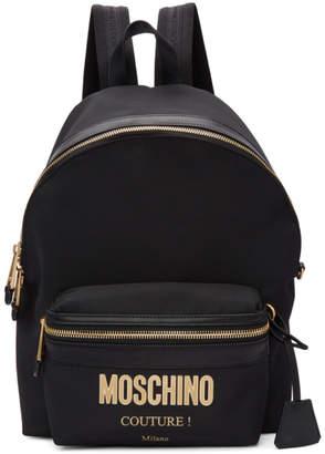 Moschino Black Logo Backpack