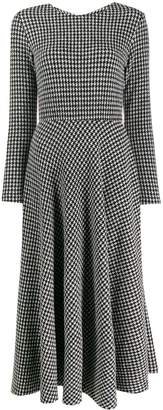 Harris Wharf London houndstooth patterned dress