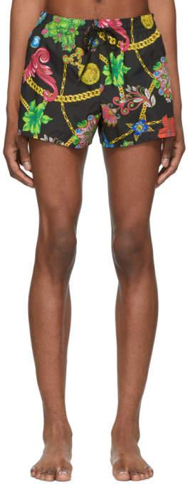 Versace Underwear Multicolor Floral Print Swim Shorts