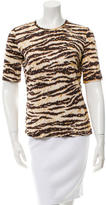 Dolce & Gabbana Tiger Print Short Sleeve Top
