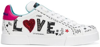 Dolce & Gabbana LOVE graffiti logo sneakers