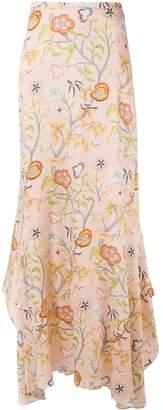 Peter Pilotto Flower Canopy print maxi skirt