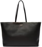 Valentino Garavani - Rockstud Leather Tote Bag - Womens - Black