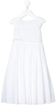 La Stupenderia Crocheted Midi Dress