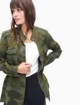 Splendid Camo Print Double Cloth Jacket