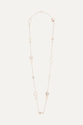 Chopard Happy Hearts 18-karat Rose Gold, Diamond And Mother-of-pearl Necklace - one size