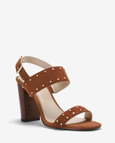White House Black Market Studded Suede Chunky Heels