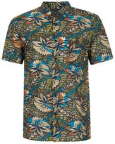 Topman Short Sleeve African Floral Print Shirt
