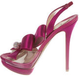 Nicholas Kirkwood Bow Embellished Satin Sandals