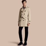 Burberry The Kensington - Mid-length Heritage Trench Coat , Size: 58, Beige