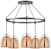 west elm Rejuvenation Haleigh Wire Dome Chandelier, Metal Round Canopy -Polished Copper